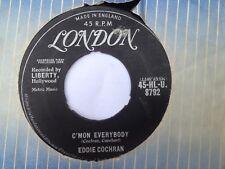 "Eddie Cochran, C'Mon Everybody/Don't Ever Let Me Go 7"" vinyl, London, 1958"
