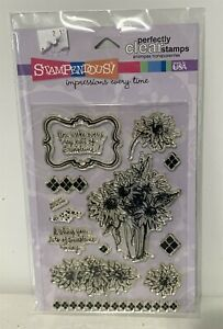 Stampendous SUNFLOWER BOUQUET Autumn Fall Flowers Rubber Stamps Set