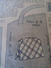 """ANCIEN PATRON POUR LA POUPEE """" BLEUETTE """"VALISE POUR LE VOYAGE JUILLET  1934"""