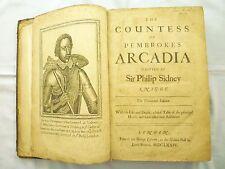 1674 Philip Sidney COUNTESS of PEMBROKE'S ARCADIA Astrophel POESY Sonnets