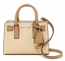 Michael Kors Dillon XS Mini Top Zip Saffiano Leather Crossbody Bag NUDE/SUNTAN