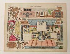 Imagerie D'Epinal No.186 Cuisine Avec Fourneau, Grande Construction paper model