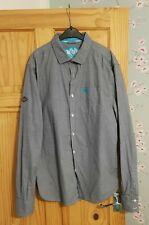 Superdry Men's Grey / Blue Long Sleeve Shirt. Size XL, Extra Large