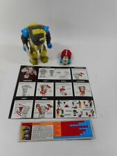 TRANSFORMERS G1 PRETENDER LONGTOOTH COMPLETE W/INSTRUCTION CARD 1989 HASBRO