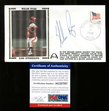 Nolan Ryan Signed FDC First Day Cover Autographed Astros PSA/DNA AC32707