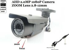 "Cctv Ahd Waterpr Camera 1/3"" 1080P 2.0 Mp Sony Imx322+Nvp2441 Zoom Lens 2.8-12mm"