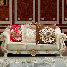 Soft Gold Velvet Foil Printing Waist Sofa Throw Cushion Home Decor Pillow Case