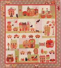 PUMPKINVILLE BLOCK OF THE MONTH QUILT PATTERN, From Bunny Hill Designs NEW
