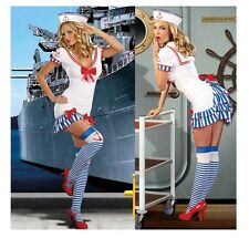 SEXY SAILOR LADIES FANCY DRESS OUTFIT / COSTUME WOMENS SEA + HAT