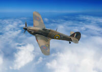 Hawker Hurricane, bbmf, clouds canvas prints various sizes free delivery