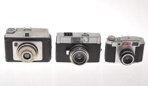 Lot of 3 different 50s cameras, Kodak Retina S2, Ilford Sporti, Anny 44