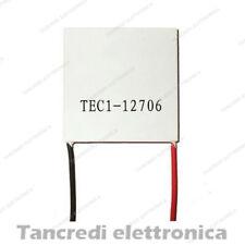 Cella Peltier 91W TEC1-12706 12V 6A raffreddamento CPU cooler frigo 12715