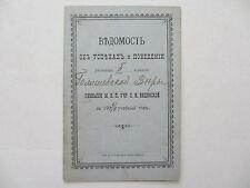 Russia Odessa Gymnasium Report Card (Табель) 1903 -1904