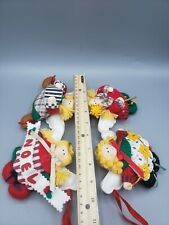"Stuffed Soft Plush Angels Angel Singing Noel Christmas Garland 18"" Vintage"