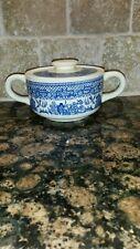 Scio Pottery Company Blue Willow Sugar Bowl NO DAMAGE