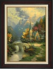 "Thomas Kinkade ""The Mountain Chapel"" Special Dealer Print on canvas Signed"