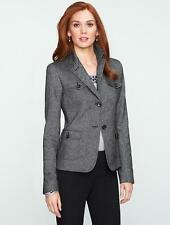 TALBOTS Donegal Tweed Military Two Button Jacket Coat 12 NWT Womans (MSRP $169)
