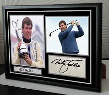 "Nick Faldo Framed Canvas Tribute Signed ""Great Gift"""