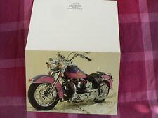 HARLEY-DAVIDSON WENSKAART GREETINGS CARD 1989 FLSTC HERITAGE CUSTOM