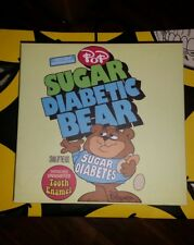 Ron English Signed by Ron English  Sugar Diabetic Bear Glow-in-the-Dark kaws