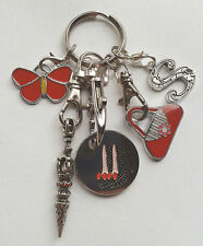 Personalised INITIAL Keyring Gift - Butterfly - Stiletto Shoes Trolley Token