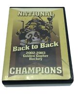 """Back to Back National Champions 2002-2003 Golden Gopher Hockey"" Oop Dvd Vanek"