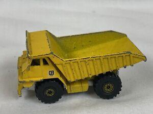 1979 Hot Wheels Mattel Yellow Dump Truck Made In Hong Kong