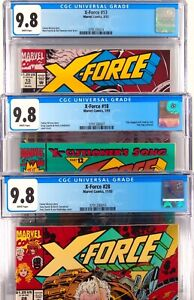 X-Force 13 And 18 AND 28  CGC  9.8 - 3 Comic Lot Set 1