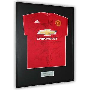 Manchester United Signed Shirt Framed Display - COA Rooney Ibrahimovic Pogba...
