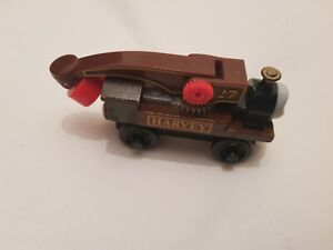 Thomas The Tank Engine & Friends WOODEN HARVEY TRAIN WOOD PLAYWORN