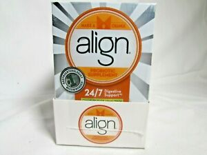 4 BOXES Align Probiotic Supplement 24/7 Digestive Support 7 Caps BEST BY 03/19