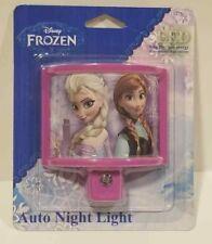 Frozen LED Plug-In Night Light Jasco 13378 Pink Purple Bedroom Bathroom Kids
