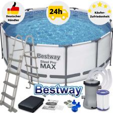 Bestway Steel Pro MAX Pool Schwimmbecken Gartenpool 366x122 mit Pumpe Leiter Set