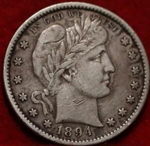 1894-S  San Francisco Mint Silver Barber Quarter