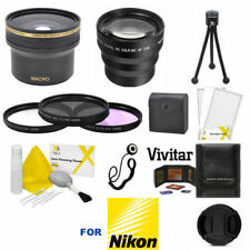 FISHEYE LENS + 3.5 TELEPHOTO ZOOM LENS + PRO KIT FOR NIKON D5200 D5300 D5500
