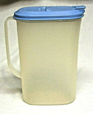 Tupperware Slimline 2 Quart Fliptop Pitcher - Blue Lid - #2009