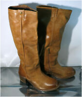 Authentic ALDO Lavorazione Artigiana, Ladies Tan Brown Knee-High Leather Boots