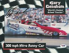 Gary Densham Signed 8x10 Photo Psa/Dna Coa Nhra John Force Racing Funny Car Auto