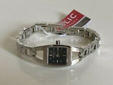 NEW! RELIC FOLIO SQUARE BLACK DIAL SILVER-TONE BRACELET WATCH ZR33503 $60 SALE