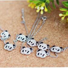 Lovely Sliver Panda Bracelet Rhinestone Bangle Jewelry (three bears) Accessories