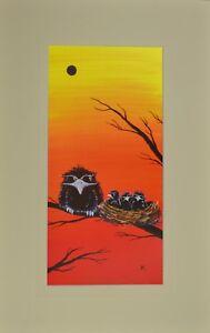 "Tawny Frogmouth Nest #3 Matted Print, Australian Prints 12"" x 19"""