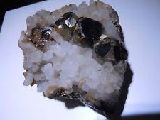 Premium Specimen Pyrite Octahedron On Quartz Crystals From Mexico 259 Grams