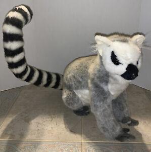 """HANSA Toys Stuffed Ringtail Lemur Plush 18"""" (2004) Poseable Tail 18"""" Long Also"""