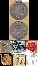 Nederland Niederlande Netherlands Willem III. 1 Gulden 1864 Schulm. 616