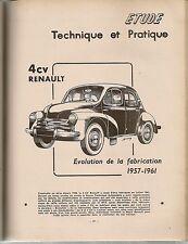 REVUE TECHNIQUE AUTOMOBILE 187 RTA 1961 RENAULT 4CV 1957 1961 COMPTE RENDU SALON
