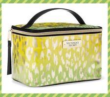 Victoria's Secret Train Case Travel Case Makeup Case Green Leopard NWT