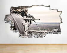 Pegatinas de Pared Francotirador Ejército escena Bacalao Niños Dormitorio Calcomanía Vinilo Arte Cartel 3D A168