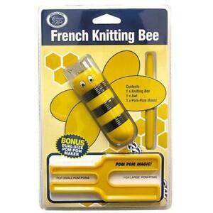 French Knitting & Pom Pom Kit Bee Yellow