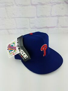 NWT Vintage 1990's Philadelphia Phillies New Era Hat Cap 7 3/8 Vtg 90s RARE!