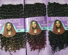 Darling French Curl Crochet Hair Extensions 18'' 40 Strands in a Pack
